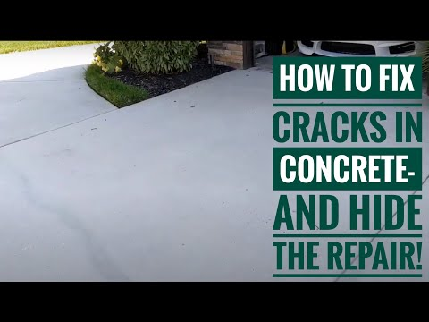 How To Fix Cracks In Concrete- And Blend In The Repair!