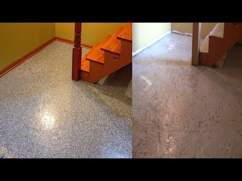 How to transform bad concrete floor into a nice looking floor | Step by Step