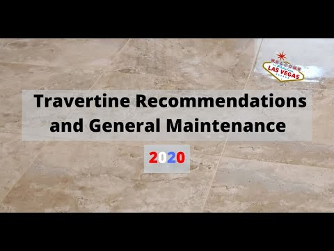 Travertine Tile and Grout Recommendations and General Maintenance