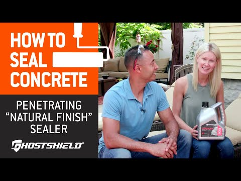How To Seal Concrete: Natural-Finish Penetrating Sealer