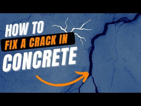 How to Fix a Crack in Concrete | A DIY Guide