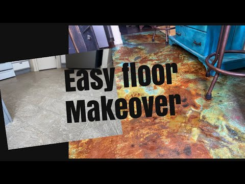 Rusty patina copper / Vinyl floor paint