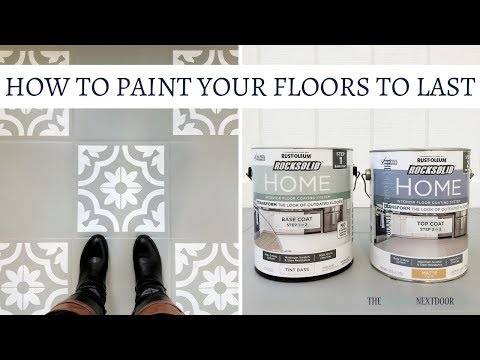 HOW TO PAINT YOUR FLOORS TO LAST | RockSolid Home by Rust Oleum