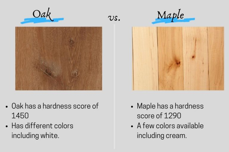 Oak vs maple flooring - differences, cost pros and cons