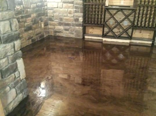 Damage resistant epoxy garage floors
