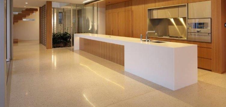 best polished concrete flooring for below grade floor