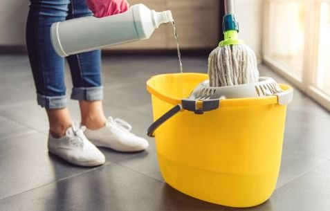 Sticky floors after mopping