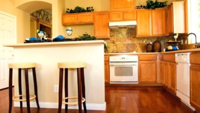 Durable wooden kitchen floor