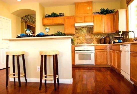 Durable wooden kitchen floor