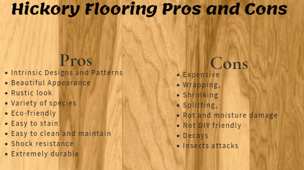 pros and cons of hickory flooring