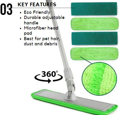 Turbo Mops Microfiber Mop Cleaning System