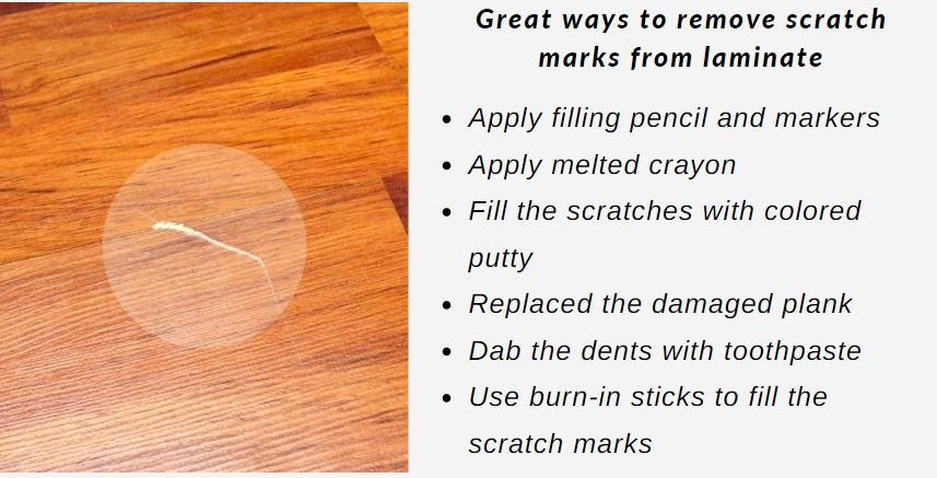 How Do You Remove Scratch Marks From, How To Remove Scratches On Laminate Wood Flooring