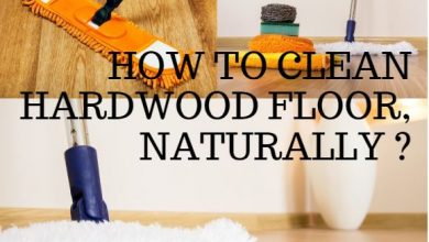 how do you clean hardwood floor naturally?