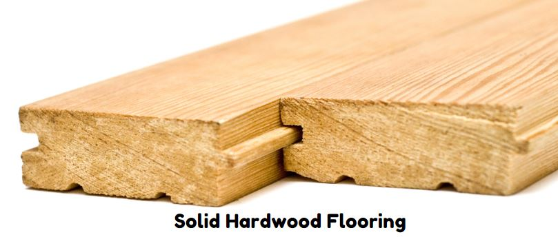 Solid hardwood flooring, with glove and tongue fittings