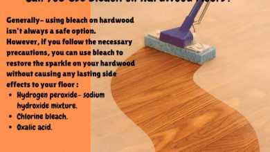 can i use bleach on hardwood floors
