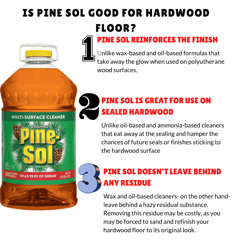 Is pine sol good for hardwood floors
