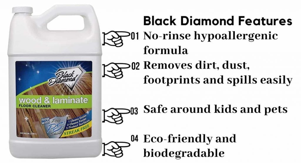 Black diamond wood and laminate cleaner