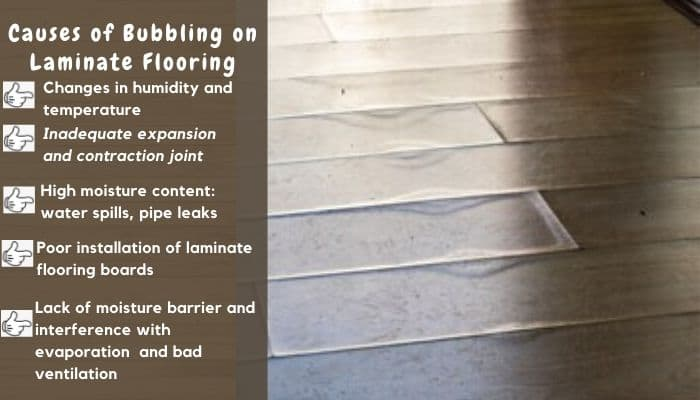How To Fix Bubbles On Laminate Flooring, How To Repair Swollen Laminate Flooring Without Replacing