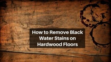 how to remove black water stains on hardwood floor
