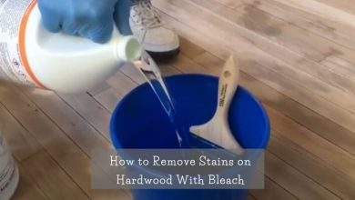 How to remove stain on hardwood with bleach