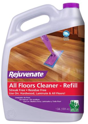 Rejuvenate High Performance All-Floors and Hardwood, bamboo, laminate, wood floors No Bucket Needed Floor Cleaner Powerful PH Balanced Shine with Shine Booster Technology Gold Certified