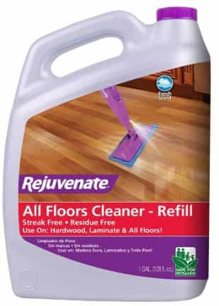 Rejuvenate High Performance All-Floors and Hardwood No Bucket Needed Floor Cleaner Powerful PH Balanced Shine with Shine Booster Technology Gold