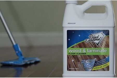 Best hardwood flor cleaner solution-Wood & Laminate Floor Cleaner: For Hardwood, Real, Natural & Engineered Flooring, Biodegradable Safe for Cleaning All Floors. By Black Diamond..