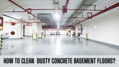 how to clean basement concrete floors