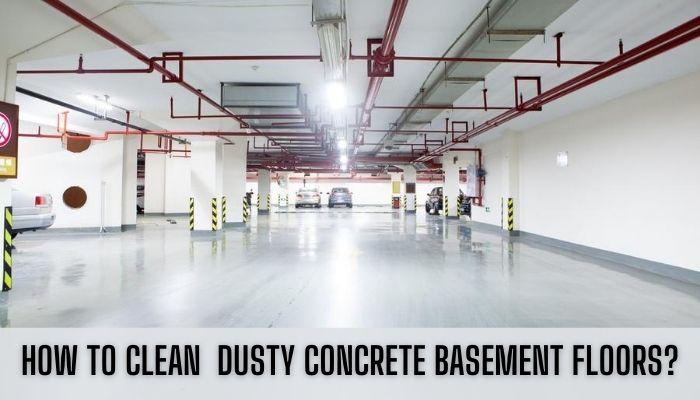 how to clean basement concrete floors