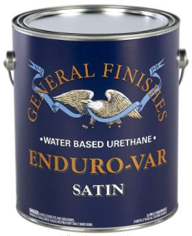 General Finishes Enduro-VAR Water Based Urethane Topcoat, 1 Gallon, Satin