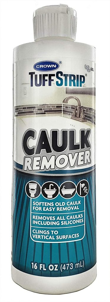 Crown Tuff Strip Ultimate Caulk Remover - Removes Caulk in 2 Hours, 16 Ounces