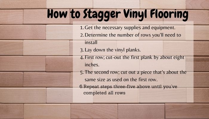 How to Stagger Vinyl Plank Flooring, floating flooring