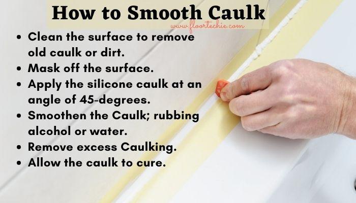 how to smooth silicone caulk? how to smooth caulk?
