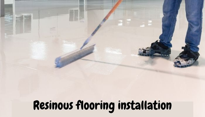 Resinous flooring system installation picture