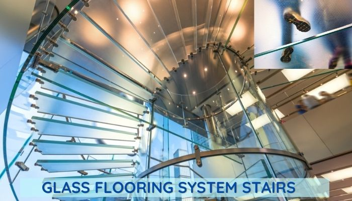 Glass flooring on stairs, how do you install a glass floor. How much weight can you put on glass flooring?