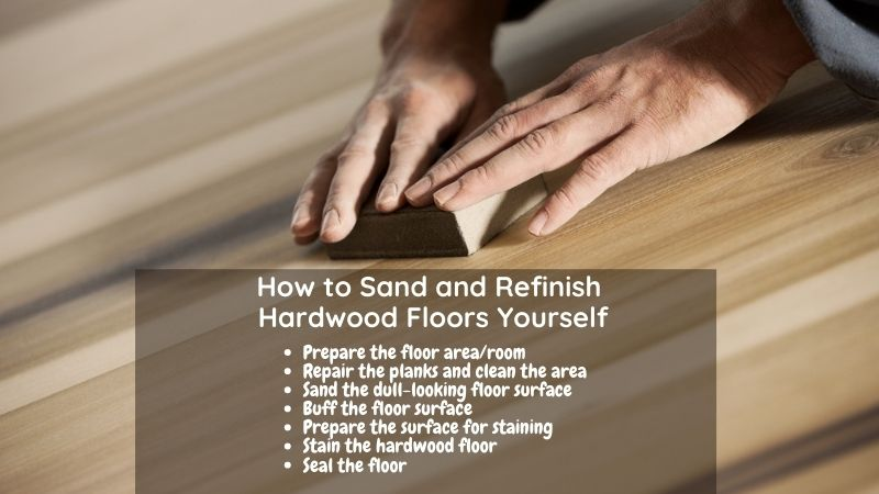 How to Sand and Refinish Hardwood Floors Yourself with sander machine or by hand