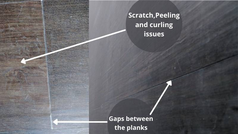 COREtec issues, scartching, Peeling and curling issues, Gaps between planks