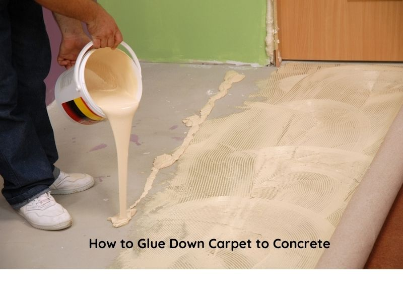 How to Glue Down Carpet to Concrete. installing carpet indoor
